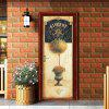 nm015 European Style Retro Door Sticker for Home Decoration 2pcs - MULTI