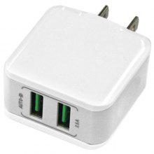 2USB 12.5W 2.5A Mobile Phone Fast Charger - US Gauge