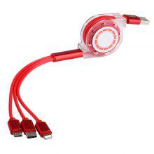 Telescopic Three in One Cable for iPhone Android And Type - C