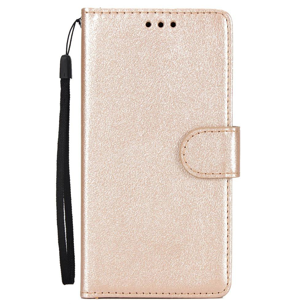 Solid Color PU Leather Wallet Case for iPhone XS Max