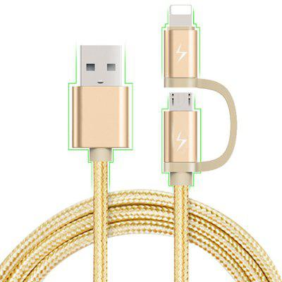 8 Pin + Micro USB Interface Charge Cable