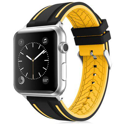 Elegante cinturino dell'orologio in silicone LEEHUR per Apple Watch 1/2/3 42mm