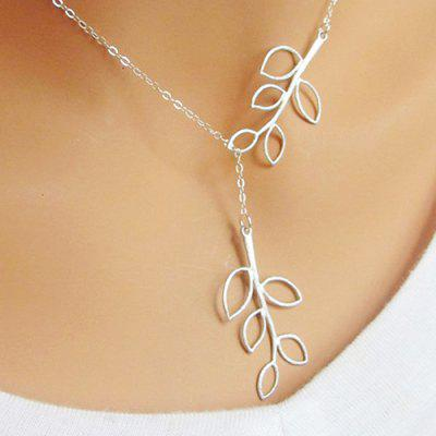 Simple Style Necklace Pendant Leaf Pattern for Girl Women