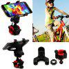 Bicycle Mountain Bike Electric Car Motorcycle Double Clip Mobile Phone Navigation Bracket Phone Holder - BLACK