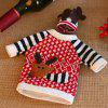 Christmas Reindeer Design Wine Bottle Cover 2pcs - MULTI-A
