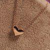 Fashion Necklace Pendant Heart Shape Chain dla Girl Women - ZłOTO