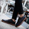 Fashionable Casual Leather Shoes for Men - BLACK