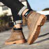Men Fashion Boots High-top Durable Lace-up - SANDY BROWN