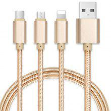 V8 Android Aluminum Braided Charging Cable for Cell Phone