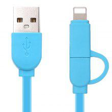 Two in One Cable for iPhone and Android