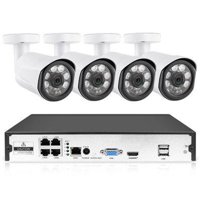 K7044WP - 200 4 Channel 1080P Wireless Security Camera Monitor System