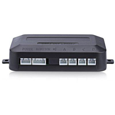 Car Rear Warning Reverse Backup Radar Control Box with 4 Parking Sensors