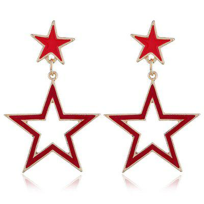 Zinc Alloy Fashion Hollowed-out Star Earring for Decoration