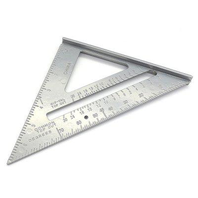 90 Degree / 45 Degree Aluminum Alloy Measuring Triangle Ruler