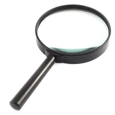 100mm 3 Times Handheld Reading Black Plastic Magnifying Glass