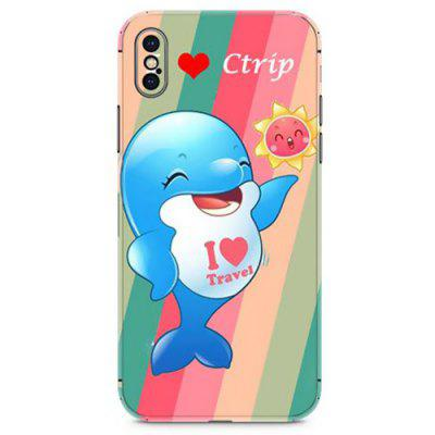 Mobile Phone Personality Fashion Sticker film for iPhone X