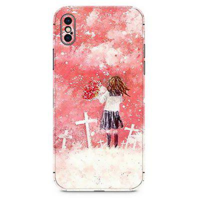 Fashion Back Stickers Color Paste Film for iPhone X