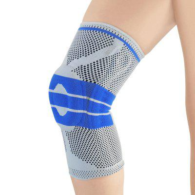 Silicone Spring Support Sports Knee Pad for Running Outdoor Cycling 1PC