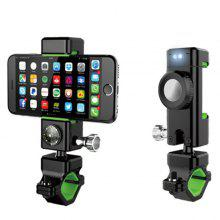 Sports & Entertainment Universal Multifunction Bike Motorcycle Mobile Phone Mount With Led Light Compass Bicycle Accessories 1pc Useful