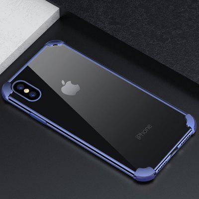 Transparent Quadrangle Phone Case for iPhone X