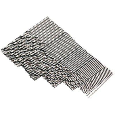 1-3mm High Speed Steel White Round Handle Twist Drill 50pcs