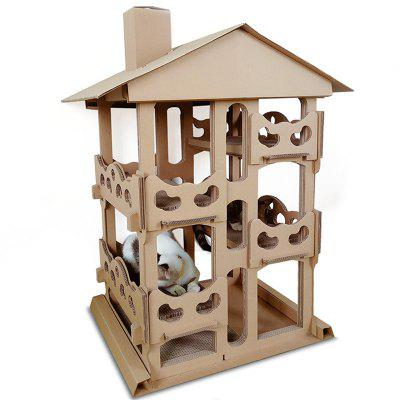 Corrugated Paper Four Layer Villa Cat Climber for Toy