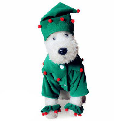Santa Costume Pet Clothing for Dogs