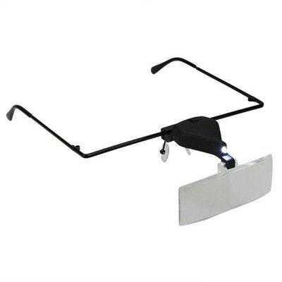1.5X 2.5X 3.5X Headset Glasses Magnifying Glass with LED Lights Identification Maintenance Tools