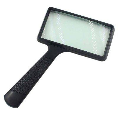 5X Hand-held Rectangular Optical Glass Lens Magnifier Old Man Reading Newspaper Magnifying Tool