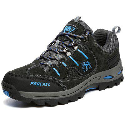 Men Comfortable Durable Hiking Shoes Lace-up Anti-slip
