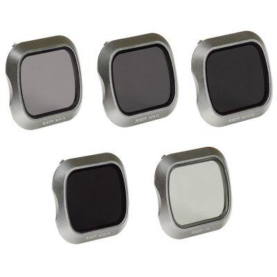 CPL / ND4 / ND8 / ND16 / ND32 Lens Filter for DJI Mavic 2 Pro RC Drone Accessory 5pcs - Ash Gray