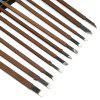 Manganese Steel Knife Carving Knife Engraving Tool Set 11 PCS - BROWN