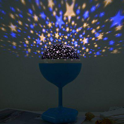 Colorful LED Starry Moon Projection Night Light for Decoration