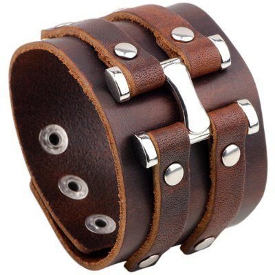 Retro Leather Punk Men Bracelet