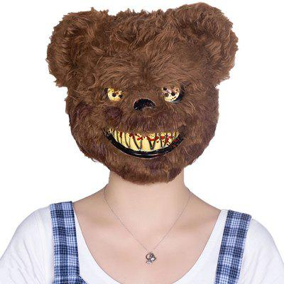 Creative Horror Bear Head Mask Cosplay Wig