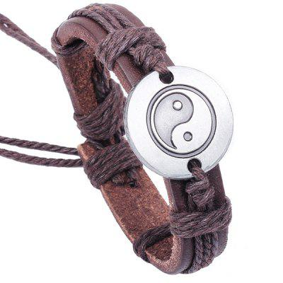Personal Leather Alloy Bracelet