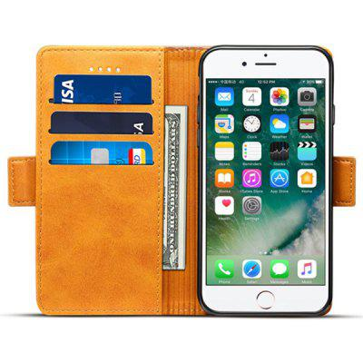 4.7 inch Creative Flip Type Card Wallet Block Color Phone Case for iPhone 8