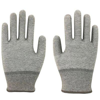 Carbon Fiber Anti-static Nylon Gloves for Electronic Industrial Production 1 Pair