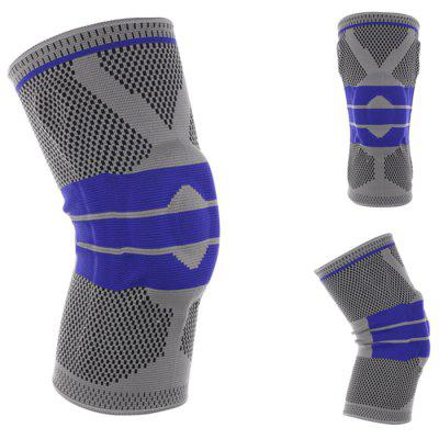 Sports Knee Pad Silicone Spring Knit Support for Running Basketball Climbing 1PC