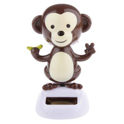 ABS Plastic Vehicle-mounted Sunflower Monkey Toy Ornament for Decoration