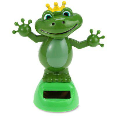 ABS Plastic Automatically Swing Frog Toy Decoration for Ornament