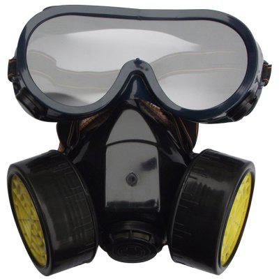 Double Tank Gas Protective Mask Respirator Paint Spray Protection Formaldehyde