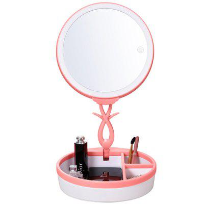 Folding LED Makeup Mirror Smart Touch Desk with Light