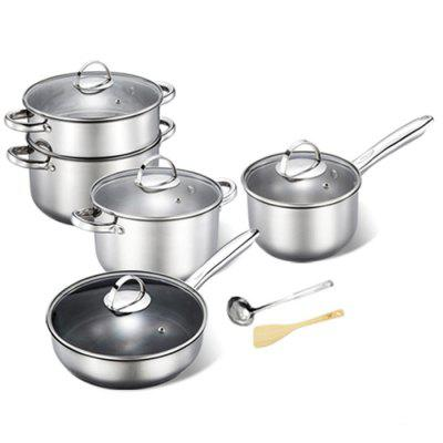 Durable Non-defrmation Stainless Steel Cookware Suit