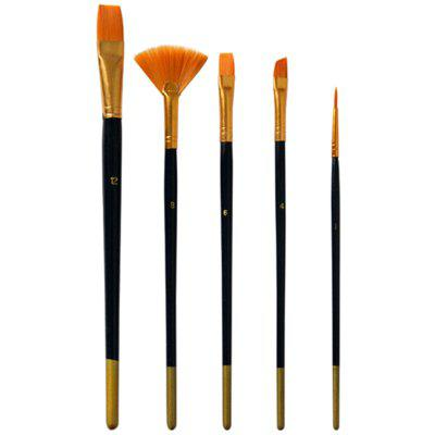 (Electronics do not need to send samples) Art oil brush brush set of 5