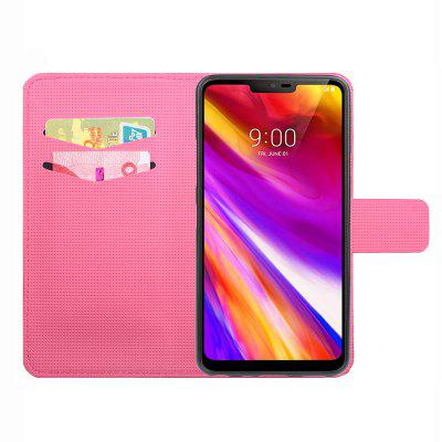 Card Slot Stand Clamshell Mobile Phone Case for LG G7