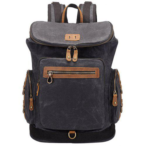 Waterproof Canvas Backpack for Black -  52.80 Free Shipping 95c05e7dd0a4f