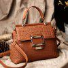 tiankuo5037 Fashionable Simple Style Young Handbag for Lady - LIGHT BROWN