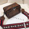 Fashionable Rivet Decoration Crossbody Bag for Lady - BROWN