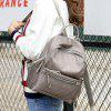Fashion Leisure Canvas Backpack for Women - GRAY GOOSE